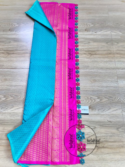 Tatting Tassel Pattern on Saree