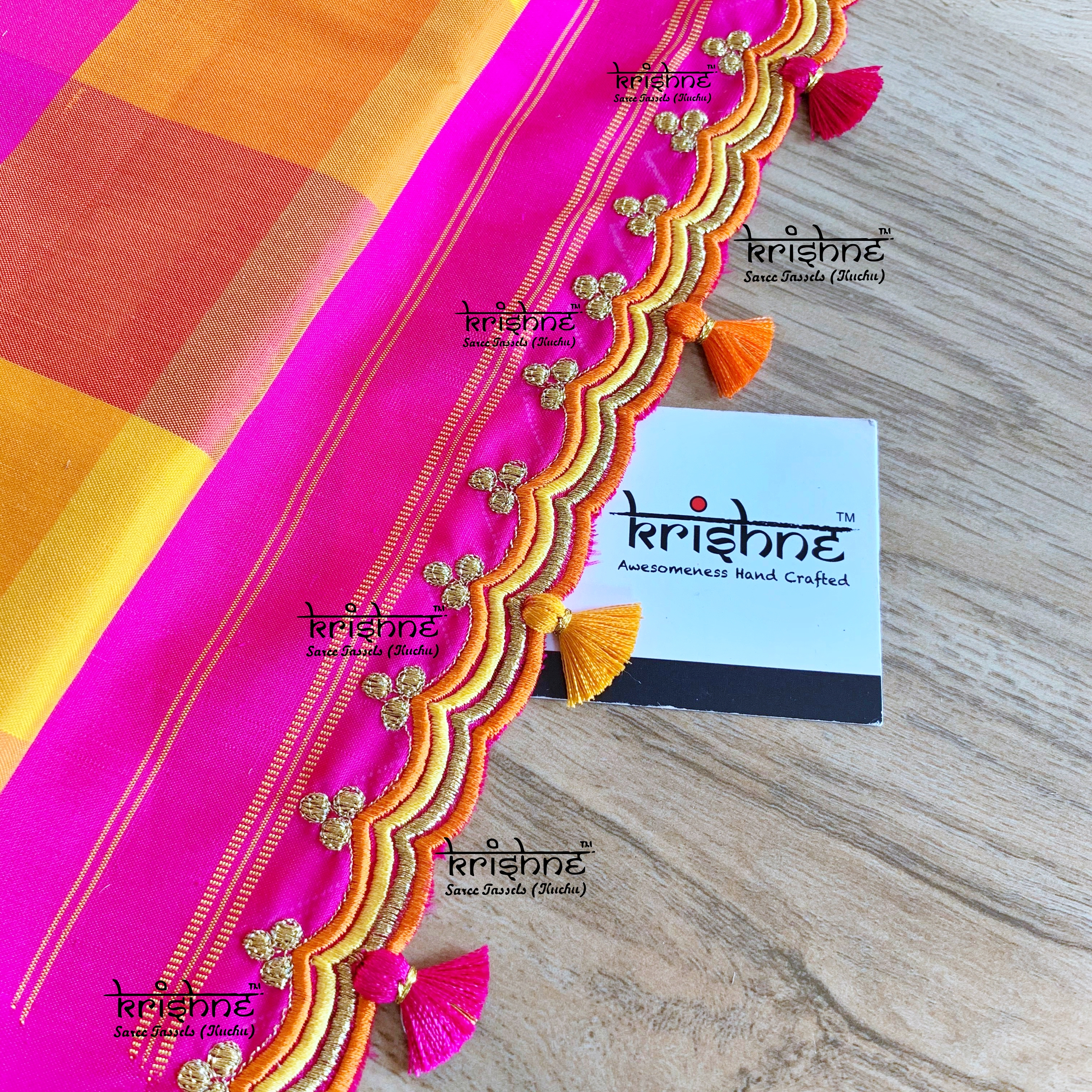 Simple Saree Pallu Embroidery Design