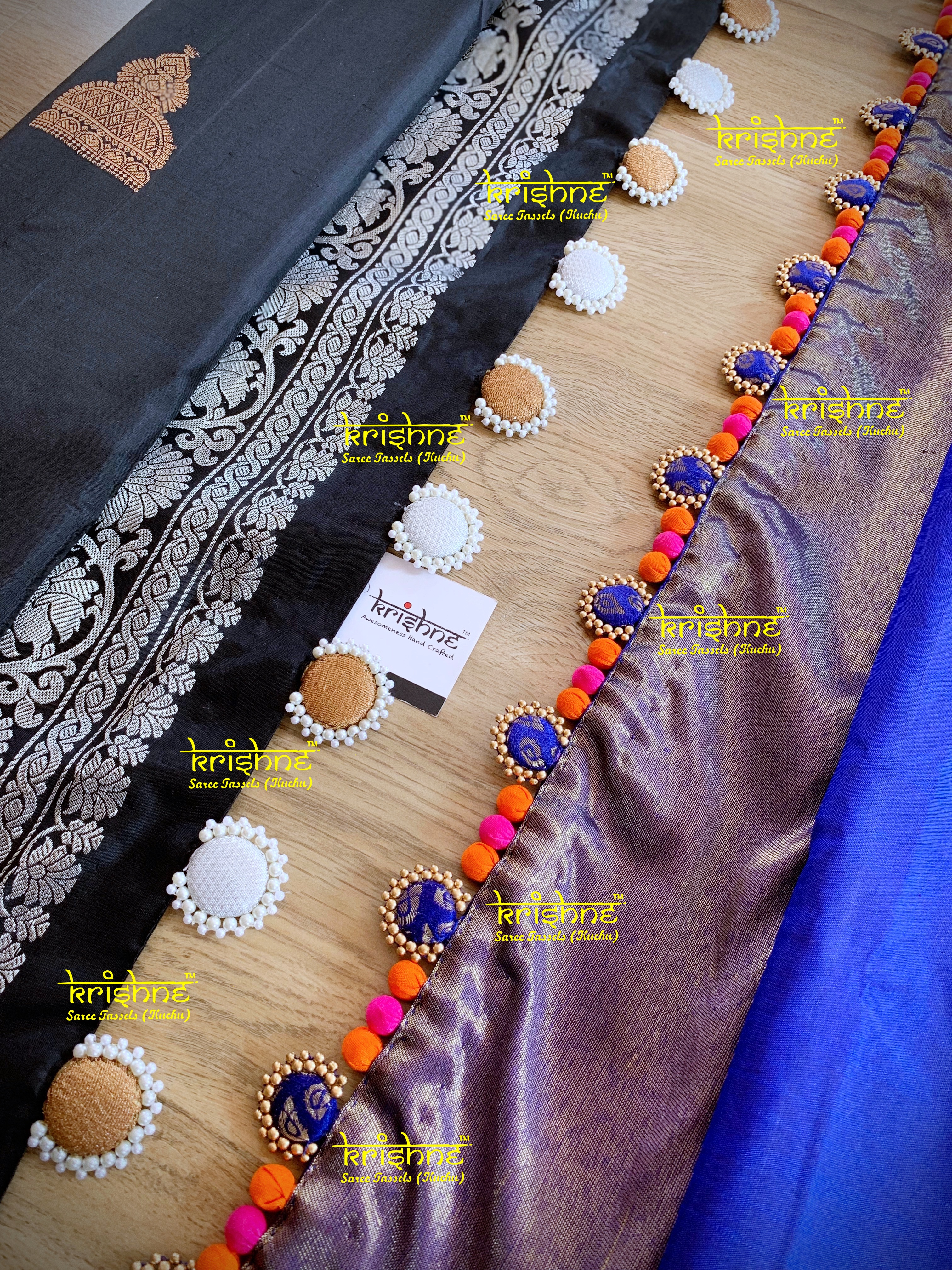 Saree Button Tassel Design