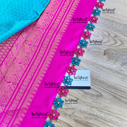 Tatting Pattern on Saree