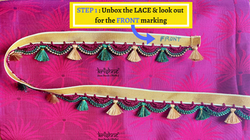Step 1 - Saree Tassel Lace