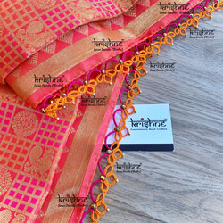 Tatting Kuchu Pattern on Saree