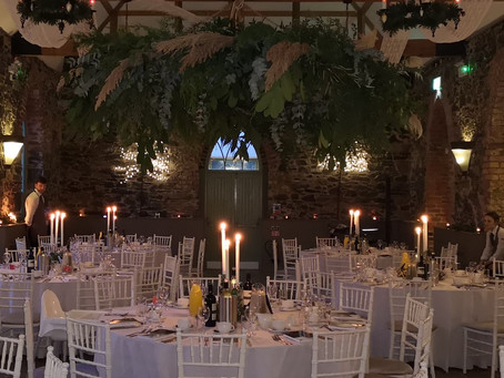 Stunning hanging floral installation by @FlowersbyMee