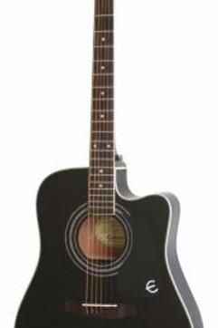 Epiphone Pro-1 Ultra Elektro Akustik Gitar Ebony