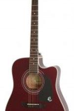 Epiphone Pro-1 Ultra Elektro Akustik Gitar Wine Re