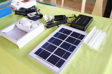 A Solar Panel Set Complete with Light Bu