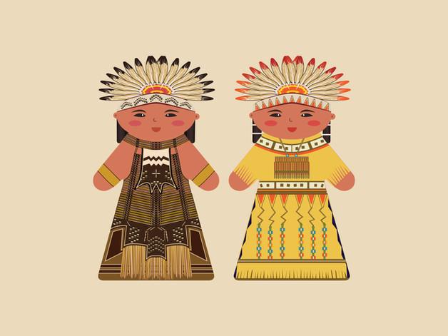 Wooden Block Dolls