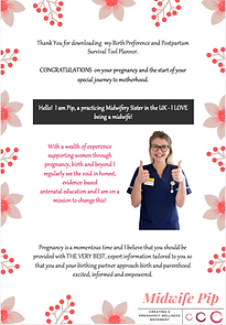 Midwife Pip Birth Plan