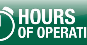 Starting Labor Day...NEW Hours of Operation