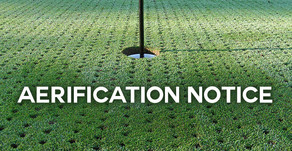 McCann Memorial Aerification Notice - Sept. 8th and 9th