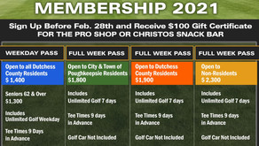 Sign up Today for your 2021 McCann Memorial Golf Membership Pass.