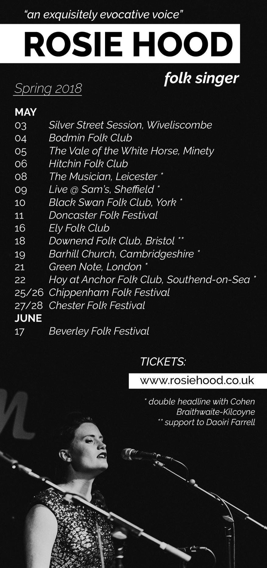 Spring tour flyer