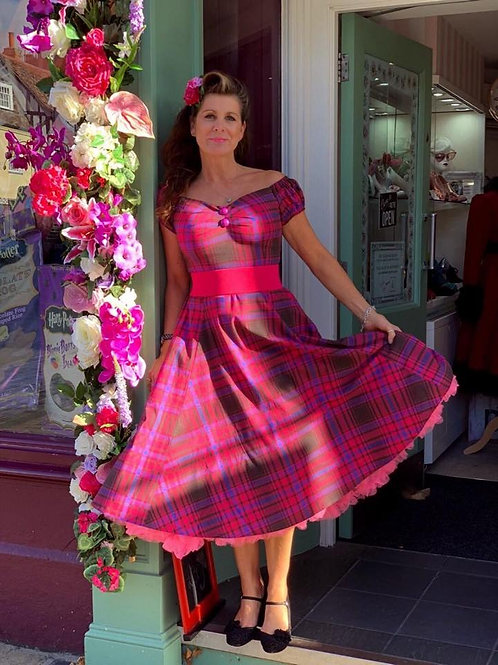 PInk Checkmate Swing Dress