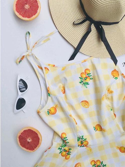 Naranja Swing Dress