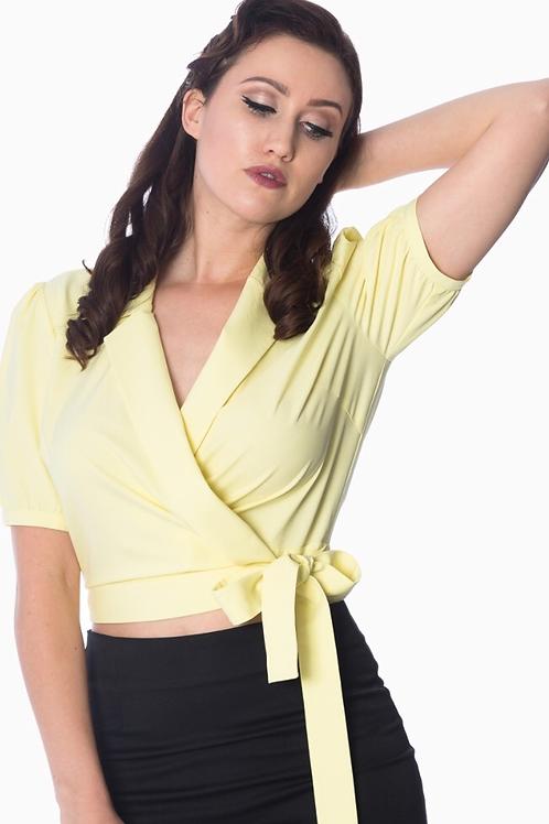 Yellow Sandy wrap blouse