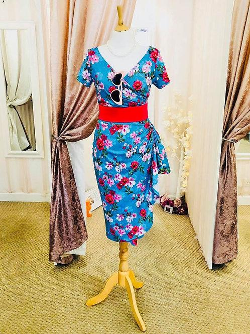 Daphne waterfall wiggle dress