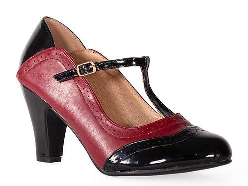 Burgundy T Bar Shoe