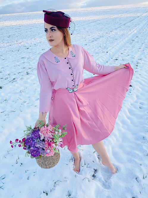 Baby Pink Bunny oh Baby Swing Skirt