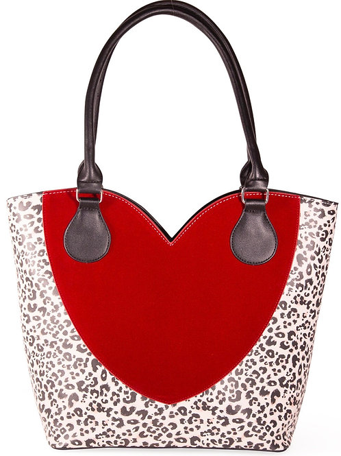 Leopard Heart tote Bag
