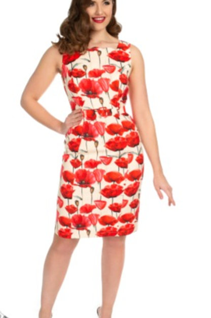 Sweet Poppy Wiggle Dress