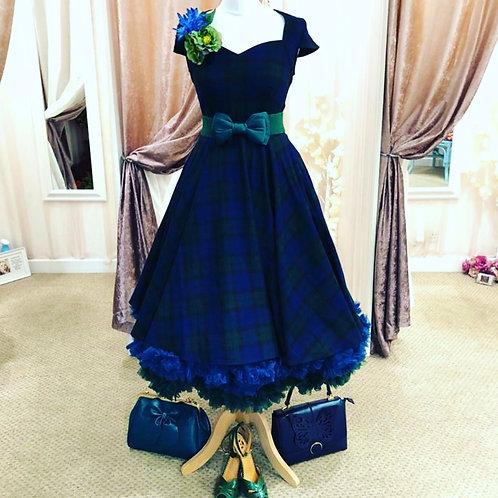 Dublin Check Tartan Swing Dress