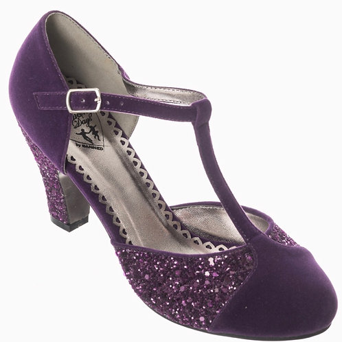 Glitterati Shoe in Cadbury Purple