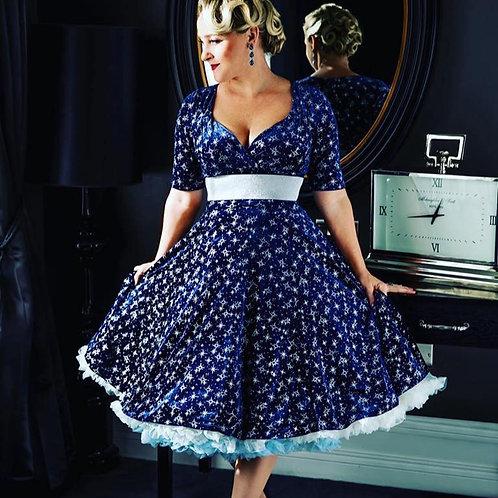Blue Star Gliteratti Swing Dress