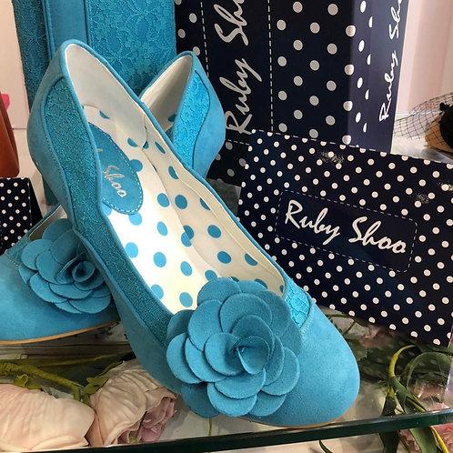 Turquoise Chrissie Shoe