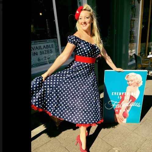 Posie Polka Swing Dress