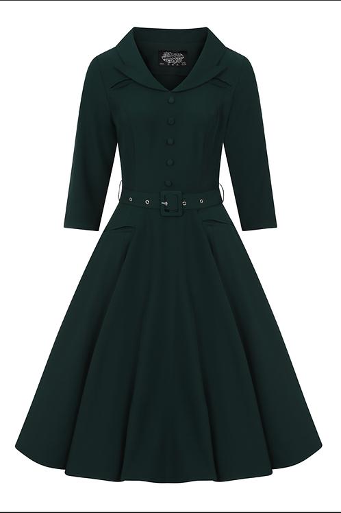 Gabriella Green Swing Dress