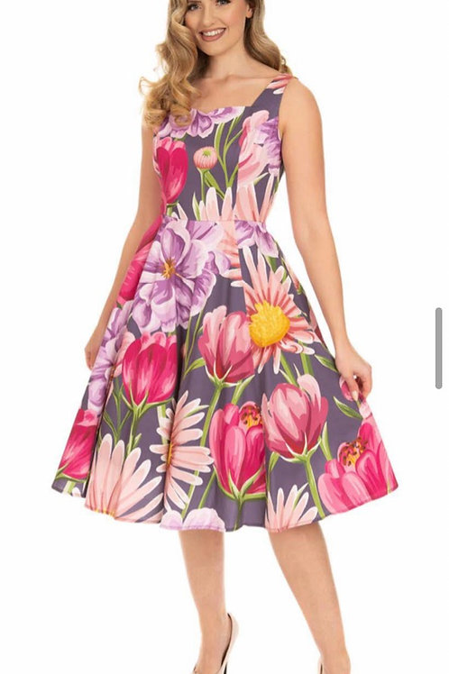 Full Bloom Swing Dress