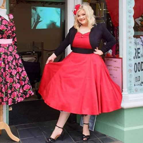Rosie Red Swing Dress