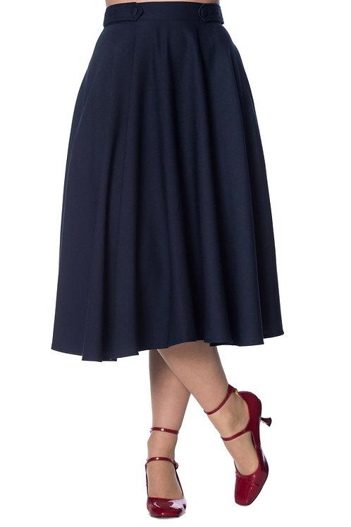 Navy Sandy Swing Skirt