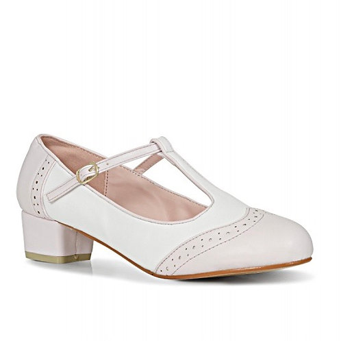 Baby Pink Brogue Shoe