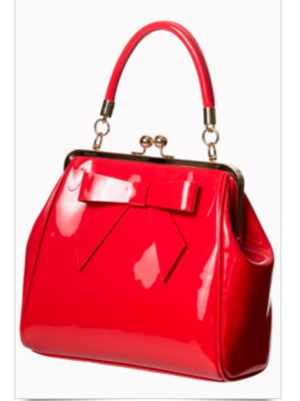 Red Patent Bow Bag