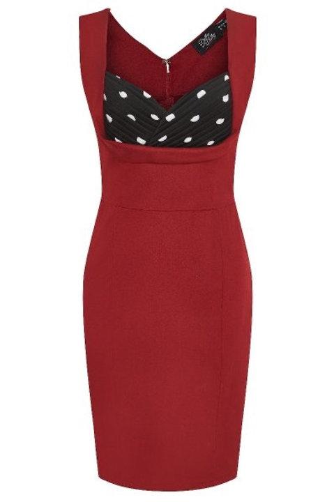 Melanie Wiggle Dress in Red