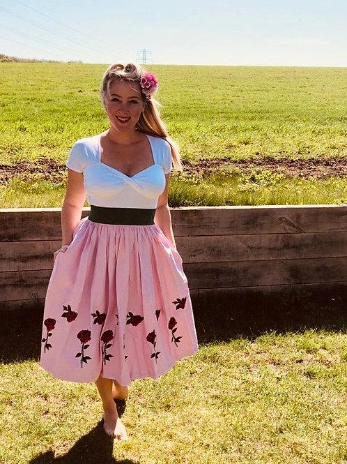 Blushing Rose Swing Skirt
