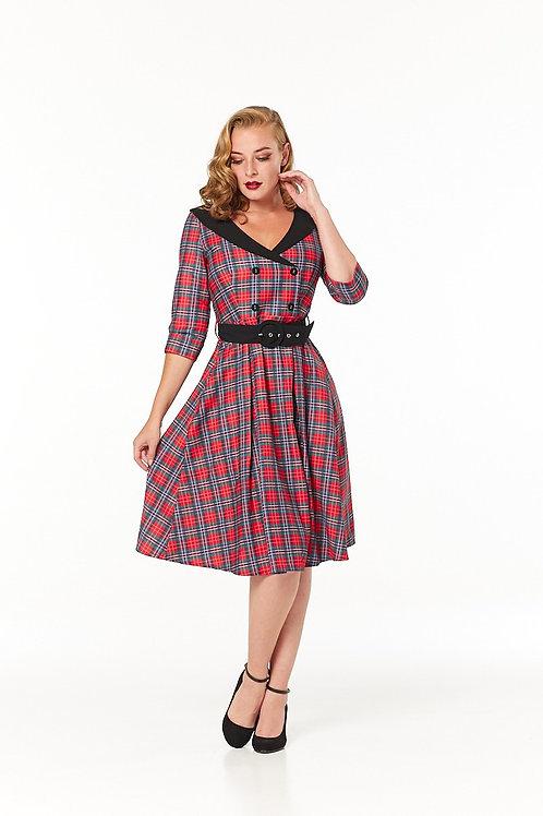 Trudie tartan Swing Dress