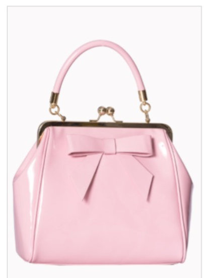 Pink Patent Bow Bag