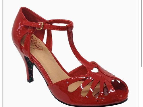 Open Heart Patent Shoe