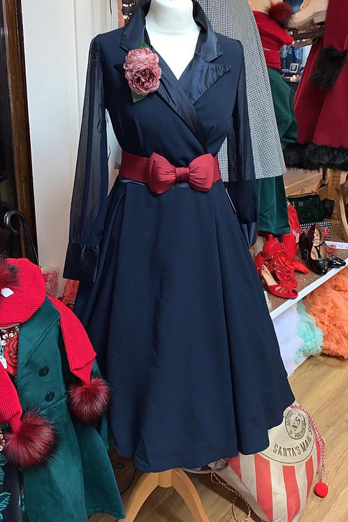 Navy Dior Swing Dress