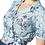 Thumbnail: Navy Sandy wrap blouse