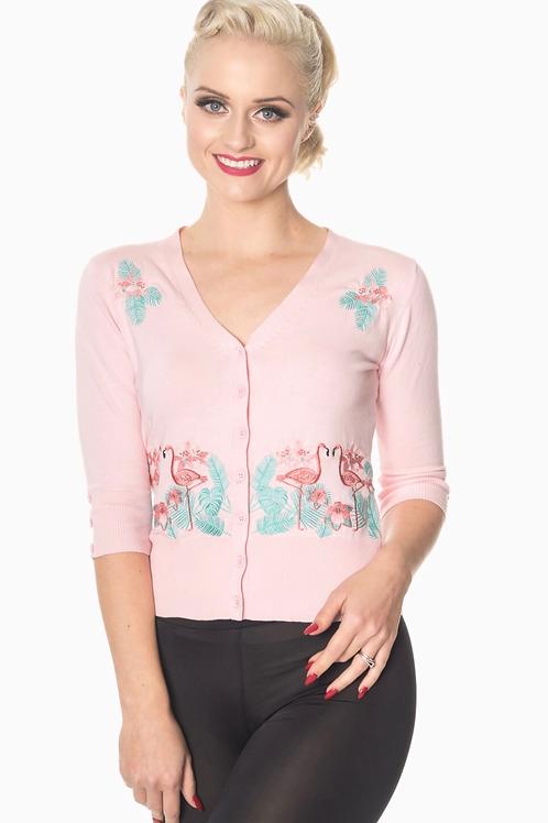 Pink Flamingo Cardi