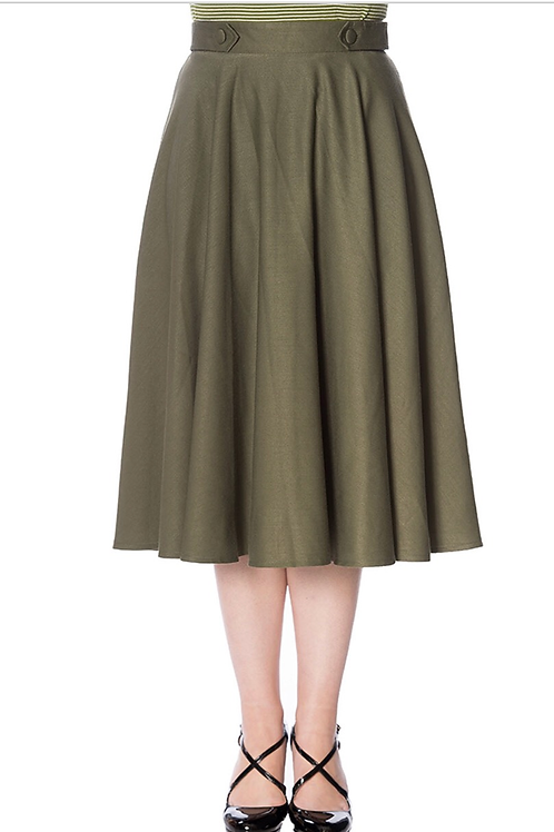 Olive Sandy Swing Skirt