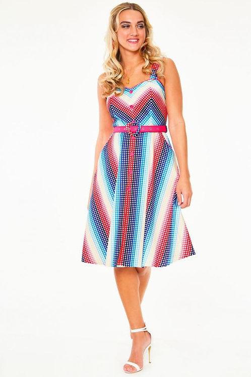 Relly Rainbow Swing Dress