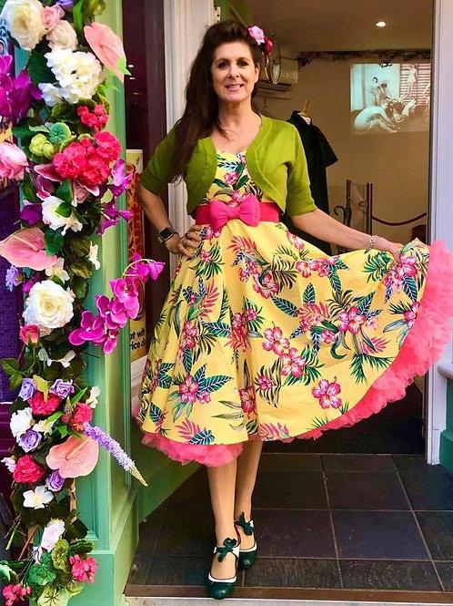 Yellow Aloha Swing Dress