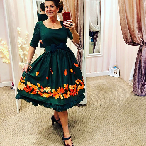 Autumn Leaf swing dress