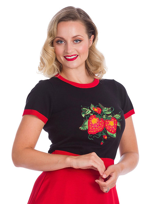 StrawBabyBerry Knit Top