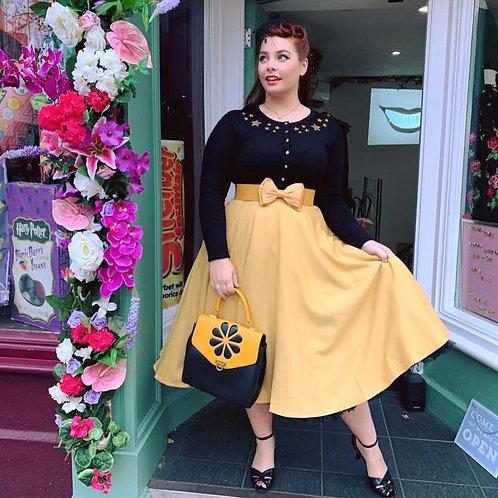 Mustard Sandy Swing Skirt
