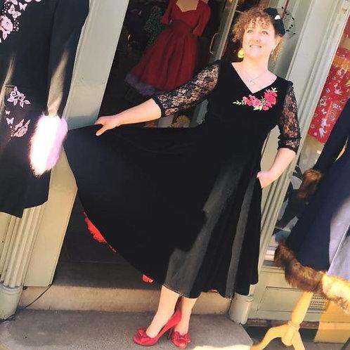Vikki Velvet Swing Dress